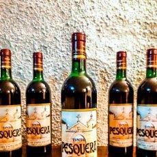 Coleccionismo de vinos y licores: 5 BOTELLAS PESQUERA - COSECHA ESPECIAL 1985 - TINTO. Lote 181175472