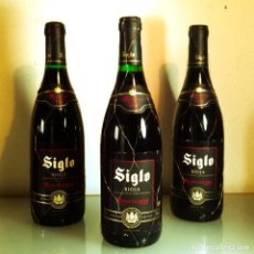 Coleccionismo de vinos y licores: LOTE 3 SIGLO RESERVA 1999 - RIOJA. Lote 196625991