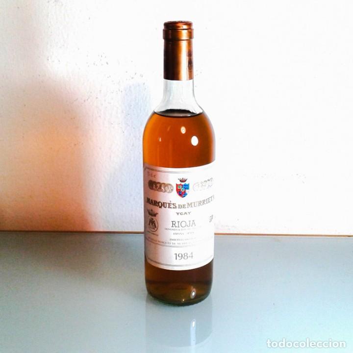Coleccionismo de vinos y licores: MARQÚES DE MURRIETA - YGAY - BLANCO - RESERVA - 1984 - Foto 3 - 194068077