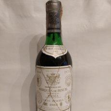 Coleccionismo de vinos y licores: BOTELLA VINO MARQUÉS DE RISCAL GRAN RESERVA 1982 EXCELENTE AÑADA BIEN CONSERVADA. Lote 204380855