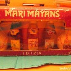 Coleccionismo de vinos y licores: BOTELLITAS MARI MAYANS DE IBIZA ESTUCHE. Lote 205341846