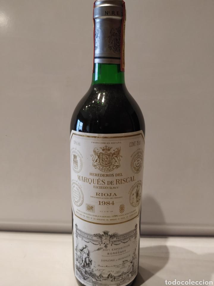 BOTELLA VINO MARQUÉS DE RISCAL 1984 MUY BIEN CONSERVADA (Coleccionismo - Botellas y Bebidas - Vinos, Licores y Aguardientes)
