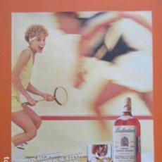 Coleccionismo de vinos y licores: PUBLICIDAD 1987 - BALLANTINES - TAMAÑO 22,5 X 30 CM. Lote 205765956