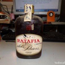 Coleccionismo de vinos y licores: BOTELLA PETACA RATAFIA DELS RAIERS. Lote 205785275
