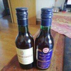 Coleccionismo de vinos y licores: 2 BOTELLITAS DE VINO. Lote 206160221