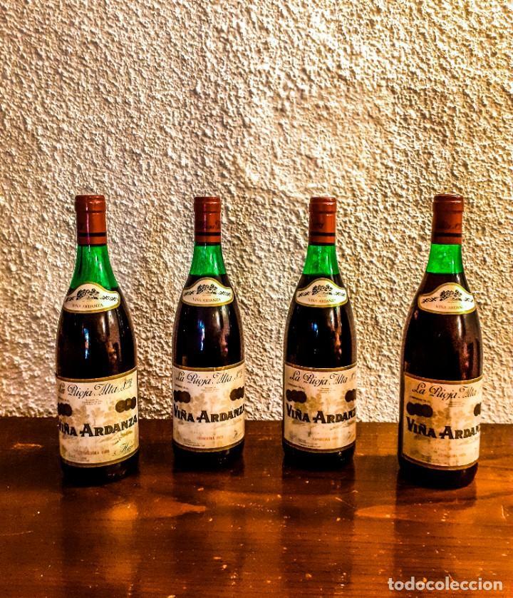 VIÑA ARDANZA RESERVA 1973 - D.O. RIOJA - 4 BOTELLAS (Coleccionismo - Botellas y Bebidas - Vinos, Licores y Aguardientes)