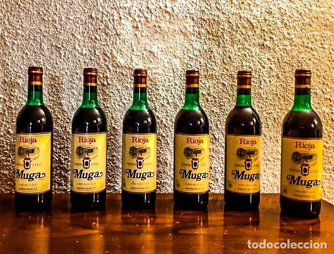 MUGA CRIANZA 1982 - VINO TINTO - D.O. RIOJA - 6 BOTELLAS (Coleccionismo - Botellas y Bebidas - Vinos, Licores y Aguardientes)
