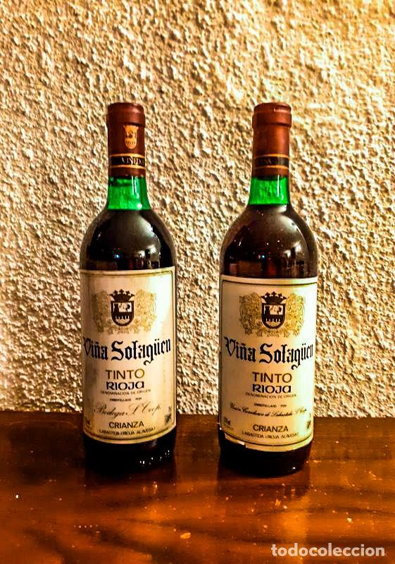 SOLAGÜEN CRIANZA 1985 - VINO TINTO - D.O. RIOJA - 6 BOTELLAS (Coleccionismo - Botellas y Bebidas - Vinos, Licores y Aguardientes)