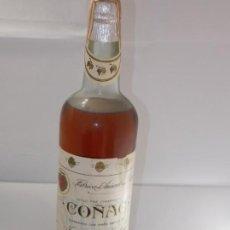 Coleccionismo de vinos y licores: BOTELLA VINTAGE BRANDY COÑAC COGNAC ESTILO CHAMPAGNE LOPEZ. Lote 207044037