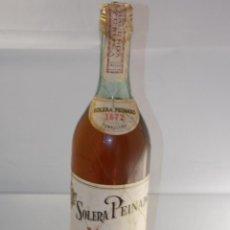 Coleccionismo de vinos y licores: BOTELLA VINTAGE BRANDY COÑAC COGNAC SOLERA PEINADO 1872. Lote 207044162