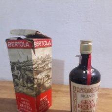 Coleccionismo de vinos y licores: BRANDIGRAN RECERVA BERTOLA. Lote 207782700