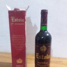 Coleccionismo de vinos y licores: ESTOLA VINO TINTO BODEGAS AYUSO. Lote 207782875