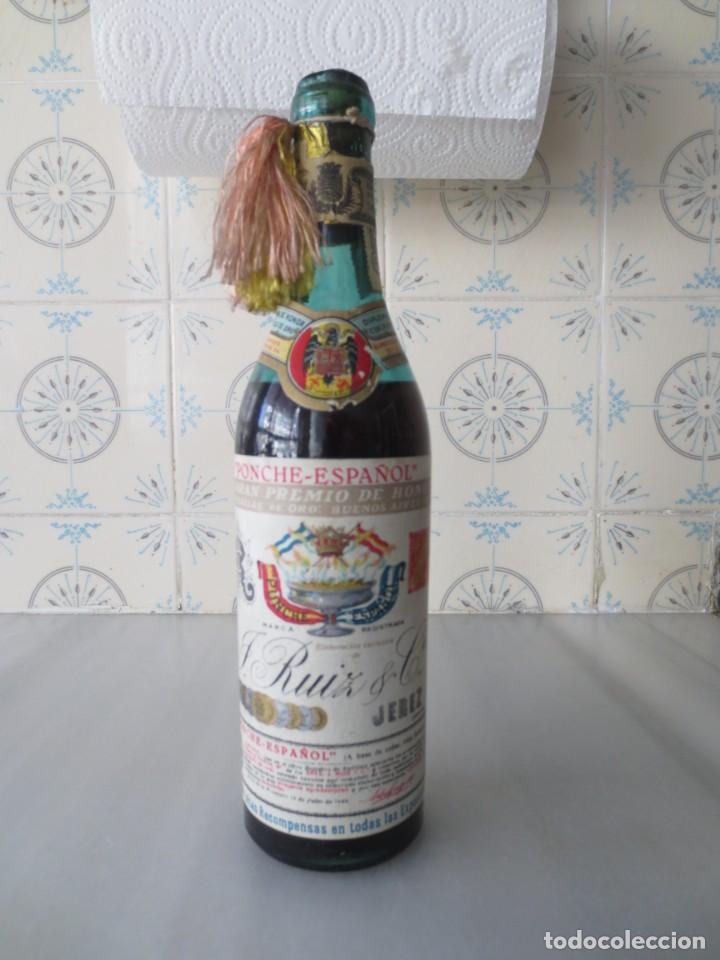 BOTELLA PONCHE ESPAÑOL PREMIO DE HONOR BUENOS AIRES (Coleccionismo - Botellas y Bebidas - Vinos, Licores y Aguardientes)