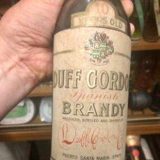 Coleccionismo de vinos y licores: DUFF GORDON SPANISH BRANDY 10 YEARS OLD. PUERTO SANTA MARIA. Lote 210679907