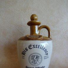Coleccionismo de vinos y licores: ANTIGUA BOTELLA FINEST SCOTCH WHISKY HIS EXCELLENCY FINE OLD SPECIAL RESERVE SIN ABRIR. Lote 135880738