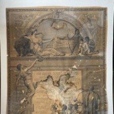 Coleccionismo de vinos y licores: EEUU. GRABADO. 1893. EXPOSICION DE CHICAGO Y PREMIO A BODEGAS VALDESPINO. UNICO. VER FOTOS. Lote 212493627
