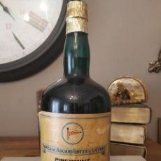Coleccionismo de vinos y licores: PIPERMINT BOTELLA - ISIDRO GONZALEZ HOYOS FABRICA DE AGUARDIENTES LICORES MALIAÑO ESPAÑA ÚNICA CO. Lote 213250411