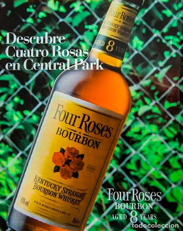 Coleccionismo de vinos y licores: Four Roses 8 Years Kentucky Straight Bourbon 1990s - Foto 6 - 214310940