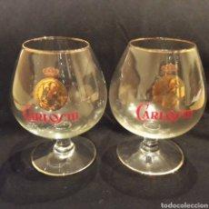Coleccionismo de vinos y licores: PAREJA DE COPAS DE CARLOS III. Lote 215048596