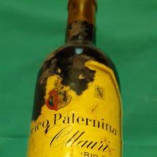 Coleccionismo de vinos y licores: BOTELLA FEDERICO PATERNINA GRAN RESERVA 1928. COLECCION. Lote 216530132