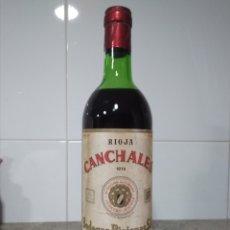 Coleccionismo de vinos y licores: RIOJA. BOTELLA DE VINO. CANCHALES 1976. BODEGAS RIOJANAS. CENICERO. Lote 216800157