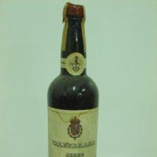 Coleccionismo de vinos y licores: ANTIGUA BOTELLA DE JEREZ SECO VALDERRAMA. Lote 217735466