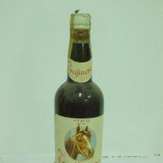 Coleccionismo de vinos y licores: ANTIGUA BOTELLA DE FINO TRAJINERO LOPEZ HERMANOS MALAGA. Lote 217739061