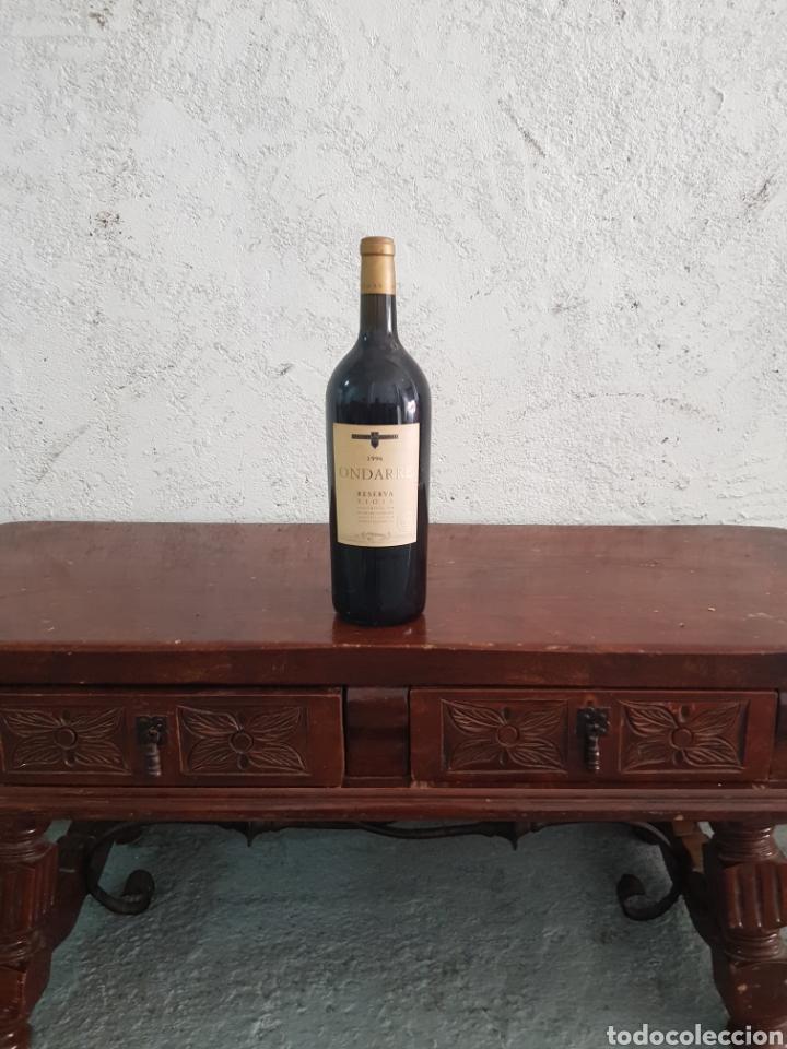 Coleccionismo de vinos y licores: Botella de vino Ondarre 1996 - Foto 3 - 218721905