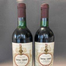 Coleccionismo de vinos y licores: CHATEAU FERRIERE GRAND CRU CLASSÉ 1975 , LOTE 2 BOTELLAS. Lote 219207042