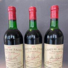 Coleccionismo de vinos y licores: CHATEAU DE SALES POMEROL 1976 , LOTE DE 3 BOTELLAS. Lote 219209820