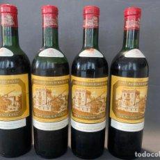 Coleccionismo de vinos y licores: CHATEAU DUCRU BEAUCAILLOU , 1961 , LOTE DE 4 BOTELLAS. Lote 219211302