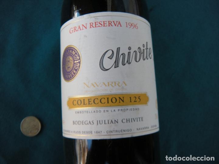 BOTELLA VINO CHIVITE GRAN RESERVA 1996 SELECCIÓN 125 (Coleccionismo - Botellas y Bebidas - Vinos, Licores y Aguardientes)