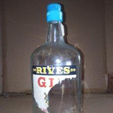 Coleccionismo de vinos y licores: BOTELLA DRY GIN GINEBRA RIVES LEER VER ENVIO. Lote 220864893