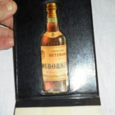 Coleccionismo de vinos y licores: BRANDY MAGNO OSBORNE ANTIGUA LIBRETA PUBLICITARIA. Lote 220924895