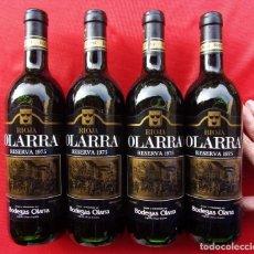 Coleccionismo de vinos y licores: OLARRA. RESERVA 1975. RIOJA. 4 BOTELLAS. TINTO.. Lote 221369608