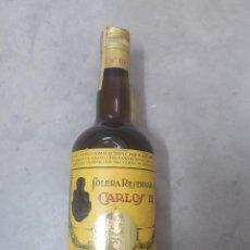Coleccionismo de vinos y licores: BOTELLA BRANDY CARLOS III SOLERA RESERVADA PRECINTO 4PTAS. Lote 221389150