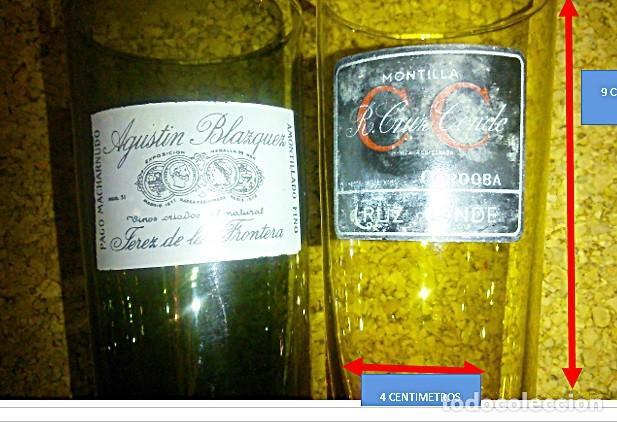 DOS VASOS DE VINO FINO. MONTILLA CORDOBA CRUZ CONDE Y AGUSTÍN BLAZQUEZ JEREZ FRONT. (Coleccionismo - Botellas y Bebidas - Vinos, Licores y Aguardientes)