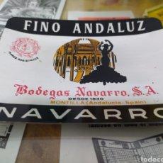 Coleccionismo de vinos y licores: CENICERO BODEGAS NAVARRO MONTILLA CÓRDOBA FINO ANDALUZ. Lote 221519192