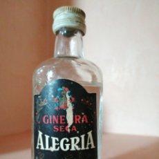Coleccionismo de vinos y licores: BOTELLÍN GINEBRA SECA ALEGRIA. RUTE. PRECINTADA. Lote 222172406