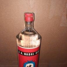 Coleccionismo de vinos y licores: BOTELLA GINEBRA J.A. NADAL GIRÓ BARCELONA. Lote 222174390