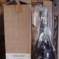 Coleccionismo de vinos y licores: ANTIGUA BOTELLA DE AGUARDIENTE DE SIDRA COLLOTO, NUMERADA, EN SU CAJA ORIGINAL. Lote 222223947
