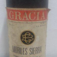 Coleccionismo de vinos y licores: BOTELLA DE VINO BODEGAS GRACIA MORILES SIERRA. Lote 222272848
