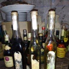 Coleccionismo de vinos y licores: LOTE DE TRES BOTELLAS DE LICOR CAFÉ, AGUARDIENTE BLANCA Y AGUARDIENTE DE HIERBAS PORTELA.GALICIA.. Lote 222396512