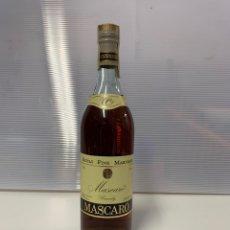Coleccionismo de vinos y licores: BOTELLA MASCARO BRANDY. Lote 222594225