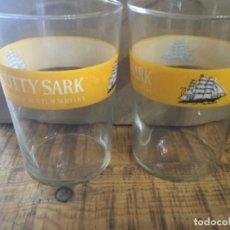 Coleccionismo de vinos y licores: CUTTY SARK - CAJA CON 6 VASOS - BLENDED SCOTH WHISKY. Lote 222656257