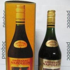 Coleccionismo de vinos y licores: ANTIGUA BOTELLA BRANDY COÑAC, DROSSARC NAPOLEÒN V.S.OP.. Lote 222912883