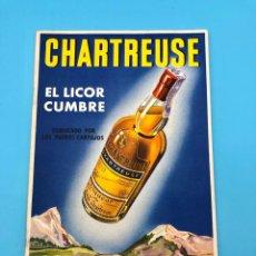 Coleccionismo de vinos y licores: ANTIGUO AÑOS 40 LIBRITO PUBLICIDAD BOTELLA LICOR CHARTREUSE SEIX Y BARRAL BARCELONA. Lote 224592213