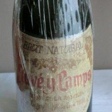 Coleccionismo de vinos y licores: BOTELLA DE CAVA ANTIGUA JUVE Y CAMPS DE LA RESERVA DE SU FAMILIA.AÑO 1985. Lote 225066795
