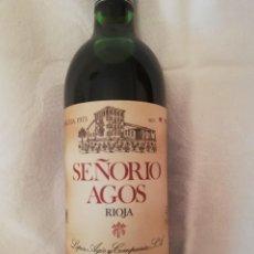 Coleccionismo de vinos y licores: BOTELLA DE VINO BODEGAS LOPEZ AGOS Y CIA FUENMAYOR (LA RIOJA)-1975-RESERVA. Lote 226490530
