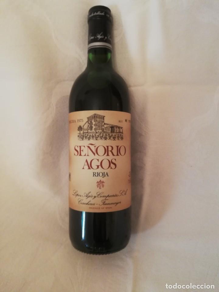Coleccionismo de vinos y licores: BOTELLA DE VINO BODEGAS LOPEZ AGOS Y CIA FUENMAYOR (LA RIOJA)-1975-RESERVA - Foto 2 - 226490530